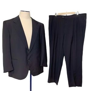 Dimitri 2 Button Suit Wool 2 Pieces Black 44T/42W